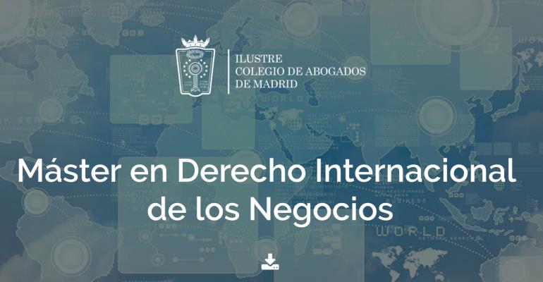 ICAM: Máster en Derecho Internacional